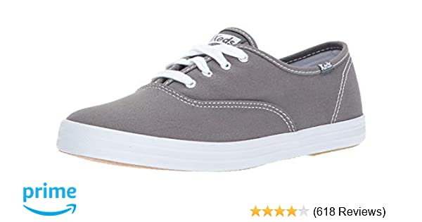 size 40 9ae78 2768f Amazon.com   Keds Women s Champion Original Canvas Lace-Up Sneaker,  Graphite, 5 M US   Fashion Sneakers