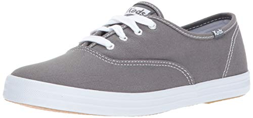 Keds Women's Champion Original Canvas Lace-Up Sneaker, Graphite, 12 W US