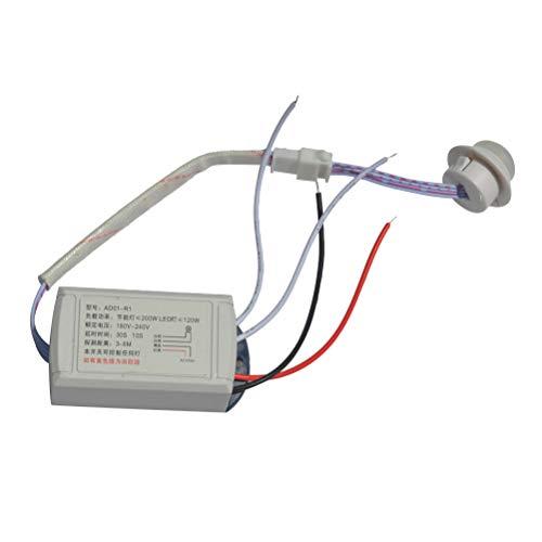 OUNONA Módulo Infrarrojo Sensor de Cuerpo Luz Inteligente Lámpara Sensor de Movimiento AC 12V Luz Inteligente Auto Interruptor ON/Off con Detector IR: ...