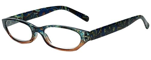Calabria 4377 Reading Glasses w/Floral Designs & Matching Ca
