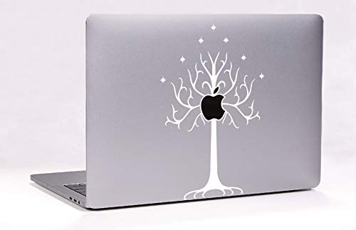 - Lord of The Rings White Tree of Gondor for MacBook Laptop Die-Cut Decal Vinyl Sticker (White)
