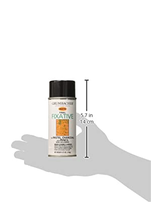 Grumbacher 649 4-3/4-Ounce Final Fixative, Matte Spray Can