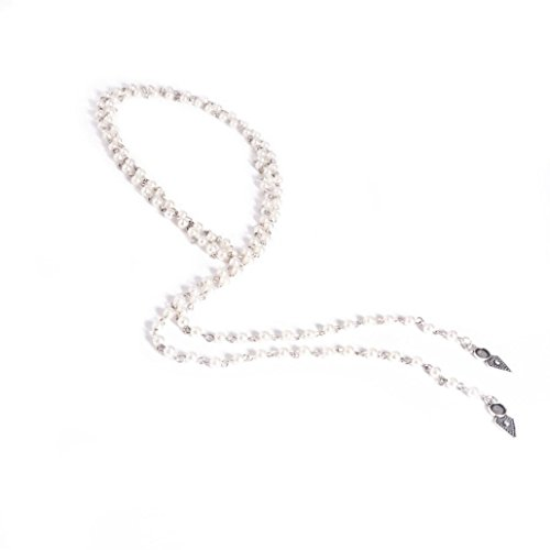 Fashion Pearl Necklace, Keepfit Long Vintage Choker Necklace Chains Charming Necklet for Women (White)
