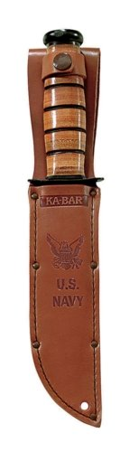 Full-size Brown Leather USN Sheath, Outdoor Stuffs