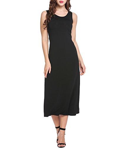 Angvns Womens Elegant Sleeveless Elastic