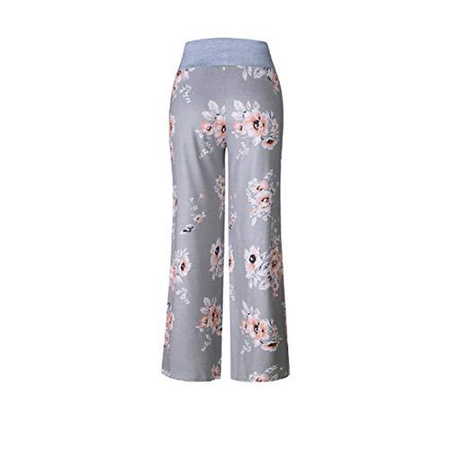 Inlefen Ceinture Yoga Lâche Remise Femmes Moelleux Taille Forme Print Jambes Pantalons Floral Sport Pantalon Larges 0486gray De En xRAq5XFA