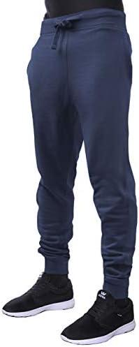 شلوار پشمی کلاه و پشت مردانه Jogger شلوار کشش الاستیک شلوار فعال باریک مناسب 1HCA0003 (کوچک ، 1hc03_Navy)