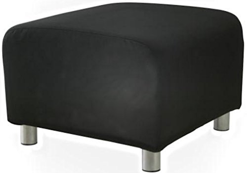 The PU Leather Klippan Loveseat Sofa Cover Replacement is Custom Made for IKEA Klippan Loveseat Sofa Slipcover. (Durable Leather Black Ottoman)