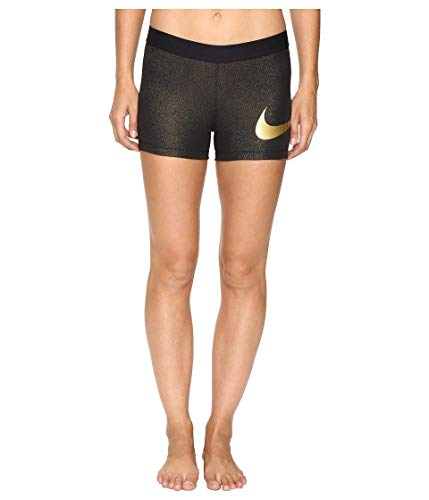 Nike Women's Pro Cool Short 3 Inch (Black/Gold, - Shorts Nike Training Gold