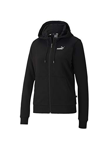 PUMA ESS+ Metallic Full-Zip Hoodie Tr Sweatshirt für Damen XS Schwarz