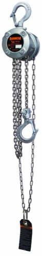 Harrington CX Series Aluminum Mini Hand Chain Hoist, 1/4 Ton Capacity, 20' Lift Height, 16.5' Hand Chain Drop, 8.5