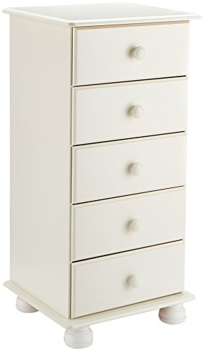 Steens Richmond Narrow Chest of Drawers, White by Steens
