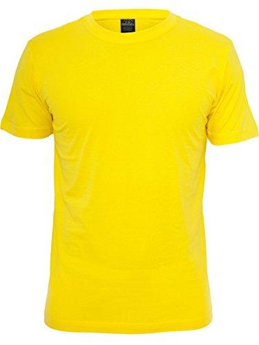 Urban Classics Herren O-Neck Basic T-Shirt, Größe:L;Farbe:Yellow (00252)