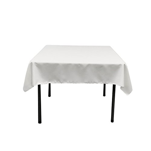 oplin Square Tablecloth, 52 by 52-Inch, White ()