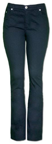 Black Slim Bootleg Jeans - 9