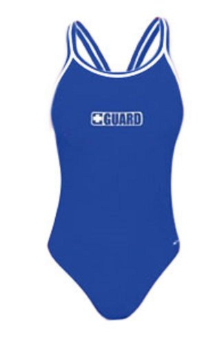Dolfin Poly Guard DBX Back One Piece - Female Swimsuit for Lifeguards - Royal 36