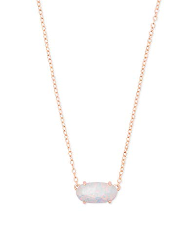 Kendra Scott Ever Pendant Necklace (Rose Gold and White Kyocera ()