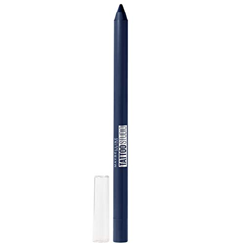 Maybelline New York Tattoostudio Waterproof, Long Wearing, Eyeliner Pencil Makeup, Striking Navy, 0.04 Ounce