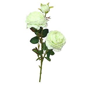 YJYdada Artificial Fake Western Rose Flower Peony Bridal Bouquet Wedding Home Decor (Green) 47