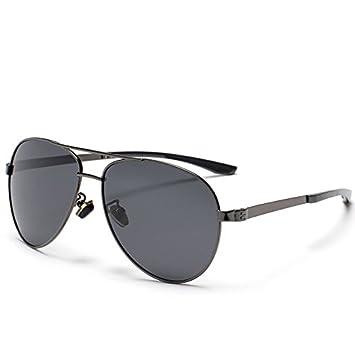 GAOCF Sonnenbrille Schatten Polarisierende Brille Neue Klassische Frosch Spiegel Sonnenbrille Herren Sonnenbrillen, Metallrahmen , 1