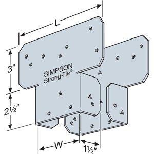 20 Count Simpson Strong Tie AC4 4x Post Cap