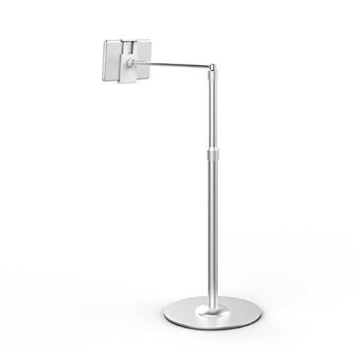 Viozon Height Ajustable Rotating Floor Stand Fit 7~10 Inch Tablets, 3.5~5-inch Smart Phones