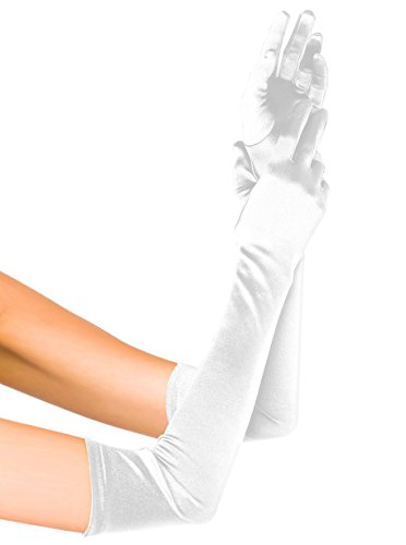 Fasker Womens Satin Evening Gloves 21'' Long Party Dance Elbow Length Opera Gloves ()
