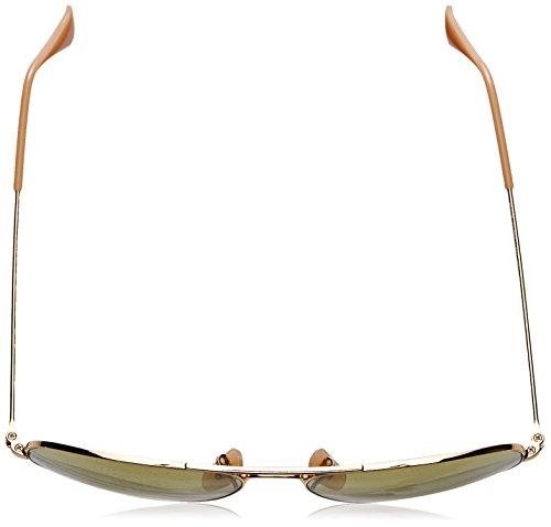 Ray-Ban Mens Large Metal Aviator Sunglasses, Gold, 55 mm