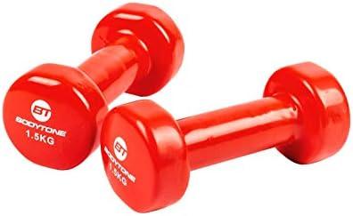 BT BODYTONE - DV1.5 - Dumbell 1,5KG*2 - Red - 2 Mancuernas de ...