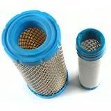 Air Filter + Pre Filter Combo Replaces Kohler 25 083 02S Kawasaki 11013-7029 11013-7048 Toro 108-3811 932195 Deere M113621 Kubota K258182311 K121182320 Briggs 820263 Exmark 93-2195