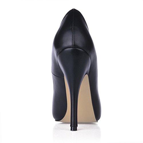 tête le tombent chaussure de noire la à ronde dans femme les haute de de grand code femmes Seul chaussures talon caractéristiques le sens Black nouvelles E0w7fq