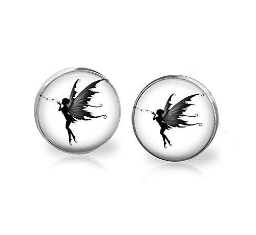 (Fairy studs earrings Stainless steel 12mm hypoallergenic)