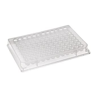 Corning 3956 Polypropylene V-Bottom 96 Well Storage Block Microplate, Without Lid, 0.5mL Well Volume (Case of 50)