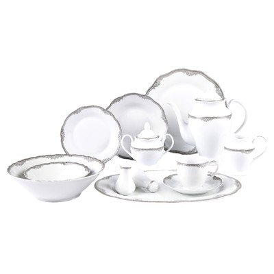 Elizabeth 57 Piece Dinnerware Set
