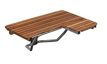 Teak Ada Wall Mounted Left Handed Shower Bench Seat 30 X22 5