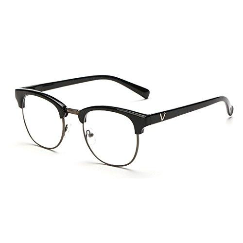 dking-vintage-inspired-classic-half-frame-horn-rimmed-clear-lens-glasses-black