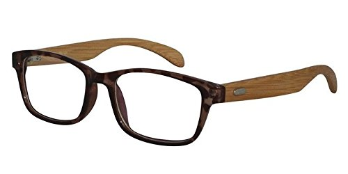 EyeBuyExpress Wayfarer Amber Tortoise Reading Glasses Magnification Strength - Tough Prescription Glasses