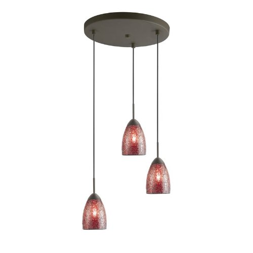 - Woodbridge Lighting 13224MEB-M20RDD Venezia 3-Light Multi-Light Pendant, Metallic Bronze