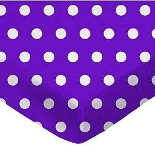 product image for SheetWorld FLAT Crib / Toddler Sheet - Polka Dots Purple - Made In USA