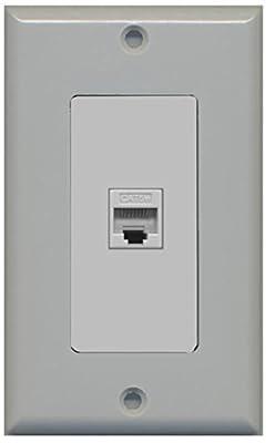 RiteAV - Cat5e Ethernet Wall Plate Decorative