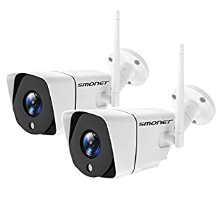 SMONET Security Camera Wireless,4MP Home Security Camera,IP66 Outdoor Security Camera,H.264 Pro WiFi IP Camera with Night Vision,Support Micro SD Card and Cloud Storage,2 Packs