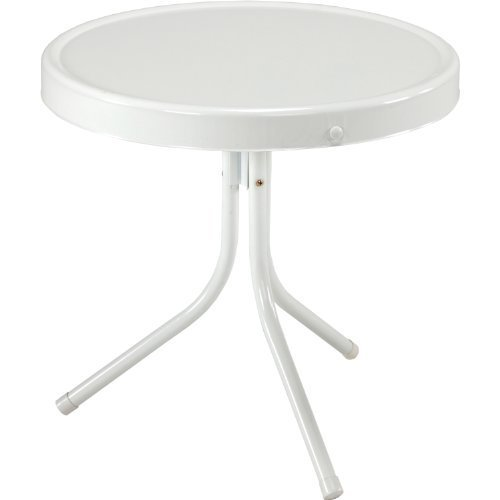 Jack Post BH-2W Retro Table, 20-1/2 by 20-Inch, White by Jack Post by Jack Post