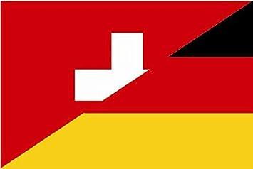 U24 Aufkleber Schweiz Deutschland Flagge Fahne 15 X 10 Cm Autoaufkleber Sticker Auto