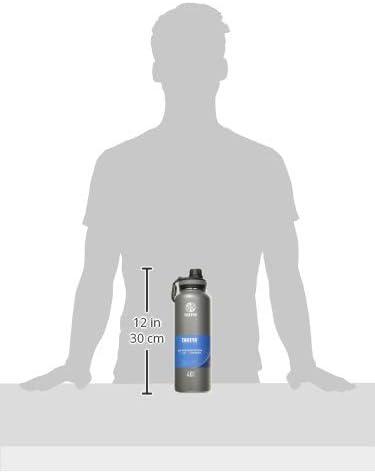 Takeya Originals Vacuum-Insulated Stainless-Steel Water Bottle, 40oz, Graphite (50025)