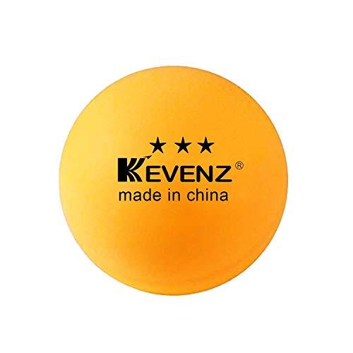 KEVENZ 144-Pack 3-Star 40mm Table Tennis Balls,Advanced Training Ping Pong Balls (Practice ping-Pong Ball,Orange)