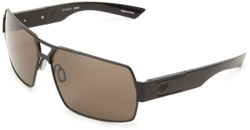 Fox The Meeting 06325-902-OS Rectangular Sunglasses,Matte Black & Warm Grey,65 - Head Fox Sunglasses