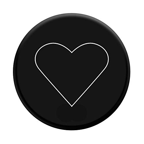 PopSockets: Collapsible Grip & Stand for Phones and Tablets - White Heart Black