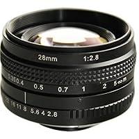 Azure Photonics AZURE-2828MF 28mm F2.8 Manual Iris F-Mount Lens, 43mm Image Circle, 5-Megapixel Rated