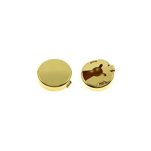 Ms.Iconic 15MM Gold Tone Round Cuff Button Cover Cuff Links for Wedding Formal Shirt 2Pcs/Set