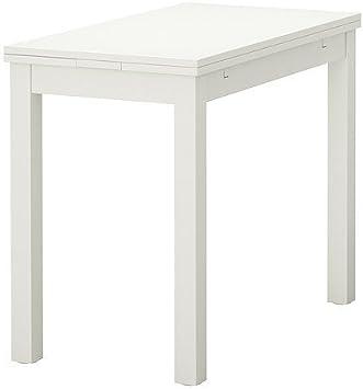 Ikea Bjursta Ausziehtisch Weiss 50 70 90x90 Cm Amazon De Kuche Haushalt